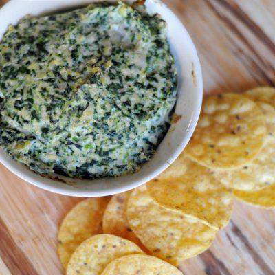 Healthy Spinach Artichoke Dip
