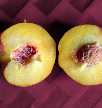 Baked Sugar Cookies Peaches
