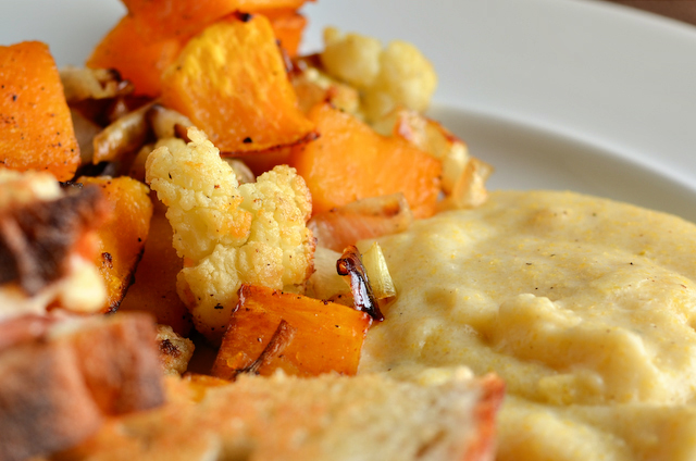 Roasted Cauliflower and Butternut Squash with Goat Cheese ...