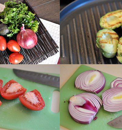 Grilled & Smashed Avocado Pico de Gallo