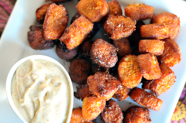 Sweet Potato Goat Cheee Tater Tots