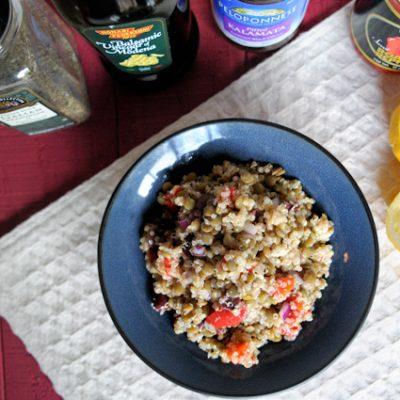 Mediterranean Lentil Quinoa Salad