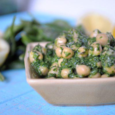 Lemon Basil Chickpea Salad