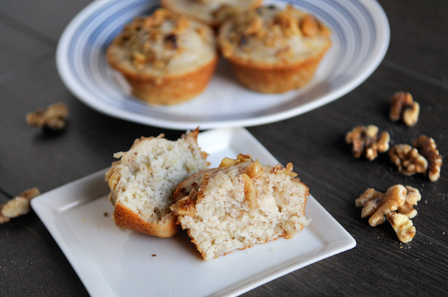 banana walnut buttermilk muffins