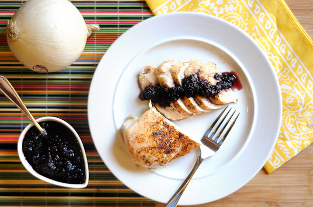Sweet & Smoky Blueberry Barbeque Sauce from @heathersdish HeathersDish.com