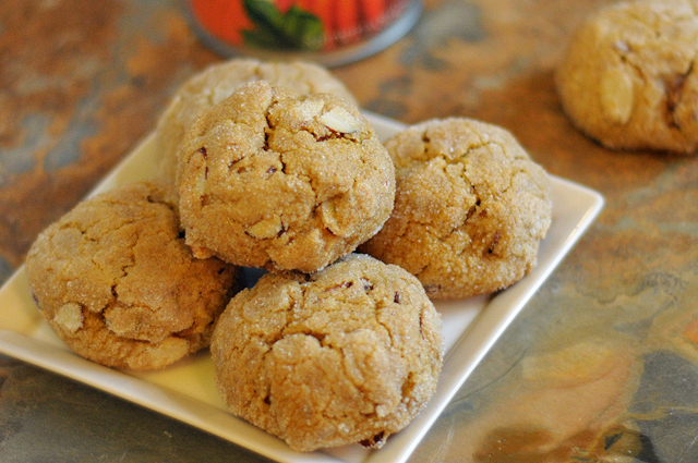 Whole Wheat Vegan Almond Pumpkin Cookies | Heather's Dish