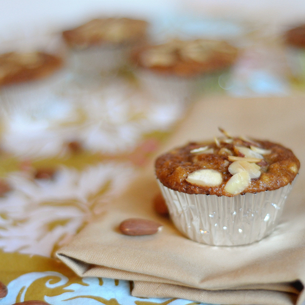 Apple Almond Muffins from @HeathersDish