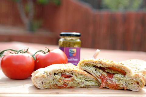 Summer Tomato & Ricotta Calzone