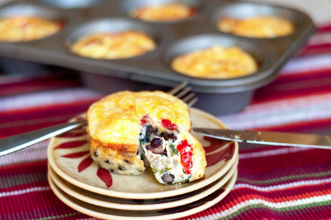 Mini Southwest Breakfast Quiches