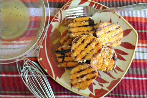 Honeyed Grilled Sweet Potatoes