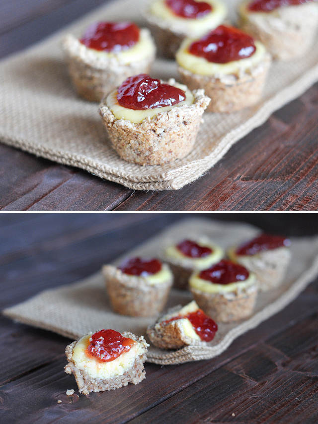 Healthy Baby Cheesecake Bites || Heather's Dish