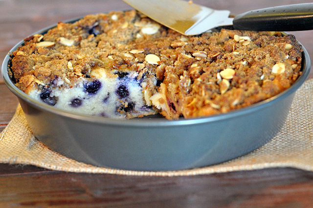 Blueberry Coffee Cake with Brown Sugar Almond Streusel || HeathersDish ...
