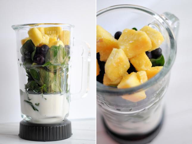 Pineapple Blueberry Smoothie Recipe — Dishmaps