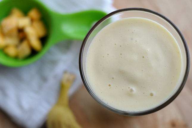 Tropical Protein Smoothie || HeathersDish.com #blended