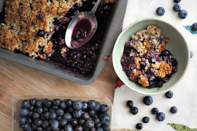 Blueberry Picking + Blueberry Breakfast Cobbler || HeathersDish.com #breakfast #healthyeating