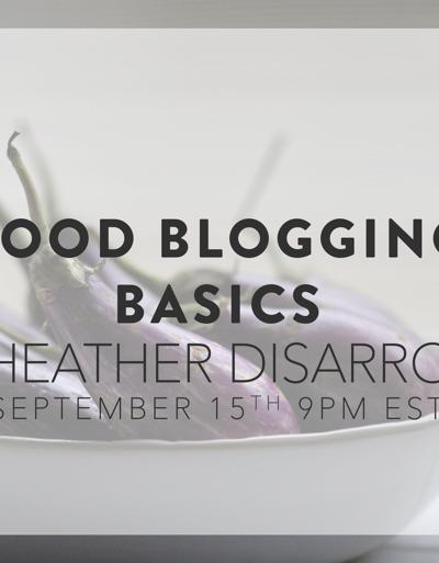 Food Blogging Basics
