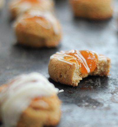 Almond Apricot Thumbprint Cookies