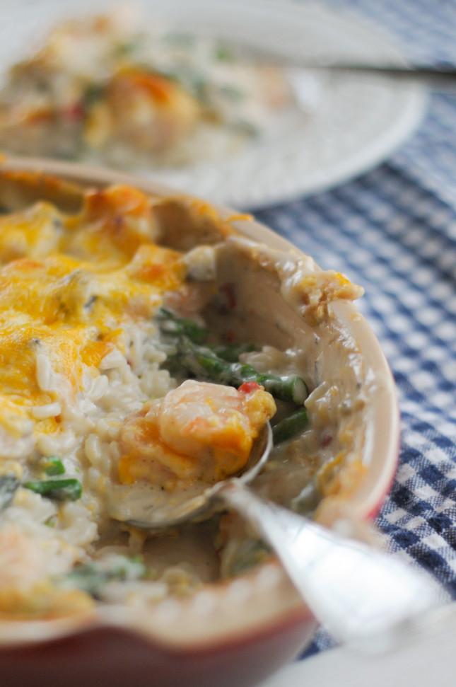 Luncheon Shrimp & Asaparagus with @RicelandFoods @heathersdish