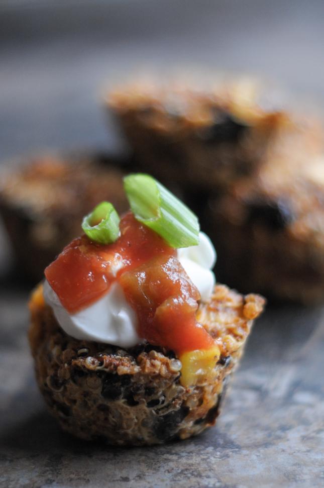 Tex-Mex Quinoa Bites | Heather's Dish