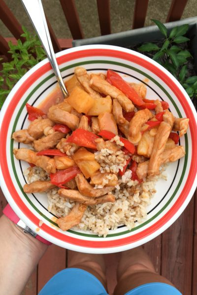 What a Food Blogger Eats: Spicy Glazed Pork with Peppers and Pineapple